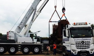 A Company Specializes in Hiab Crane Trucks for Heavy Lifting Capacities